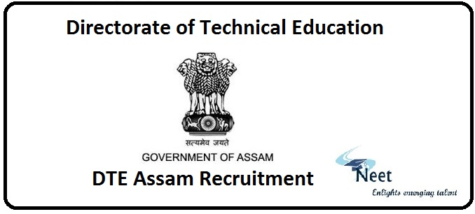 DTE Assam Recruitment