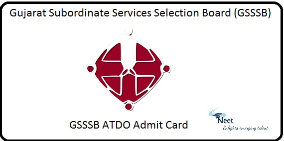 GSSSB ATDO Admit Card 2020