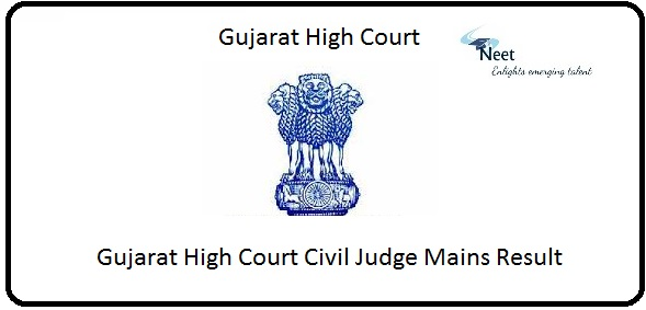Gujarat High Court Civil Judge Mains Result 2020