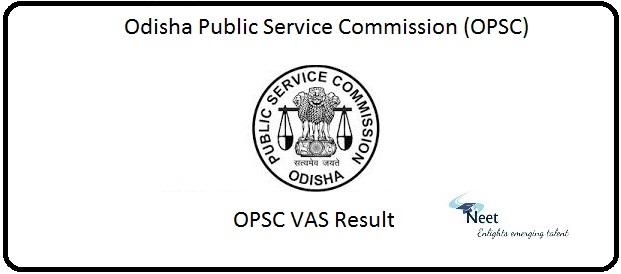 OPSC VAS Result 2020