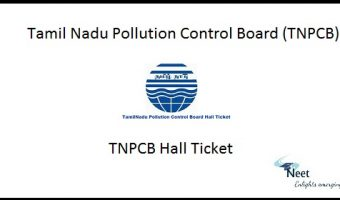 TNPCB Hall Ticket 2020