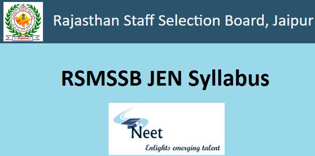 rsmssb-junior-engineer-syllabus-2020