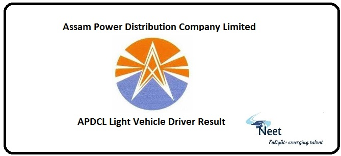 APDCL Light Vehicle Driver Result