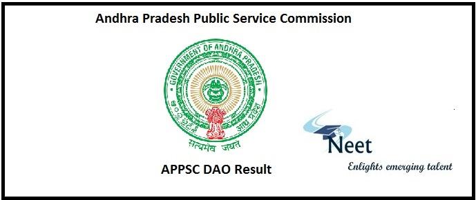 APPSC DAO Result 2020