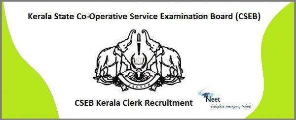 CSEB Kerala Clerk Recruitment 2021