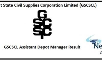 GSCSCL Assistant Depot Manager Result