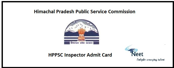 HPPSC Inspector Admit Card 2020