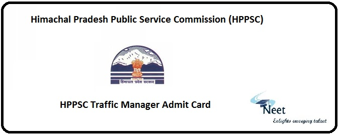 HPPSC Traffic Manager Admit Card 2020