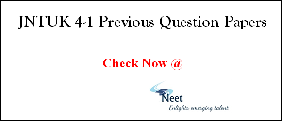 jntuk-4-1-previous-question-papers
