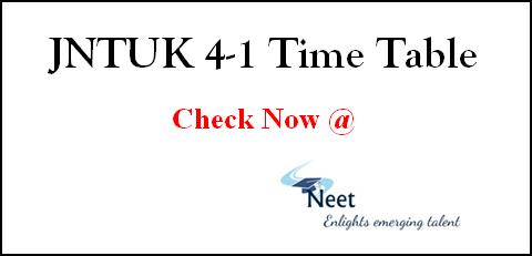 jntuk-4-1-time-table