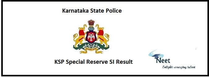 KSP Special Reserve SI Result