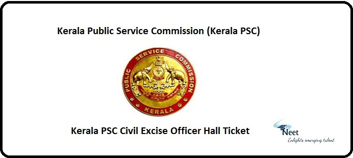 Kerala PSC Civil Excise Officer Hall Ticket