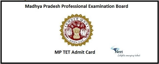 MP TET Admit Card 2020