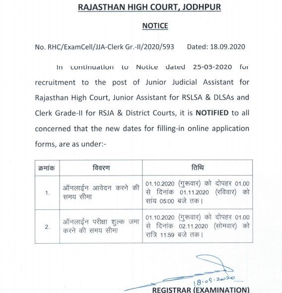Rajasthan High Court Clerk Jobs