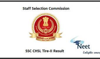 SSC CHSL Tire-II Result 2020