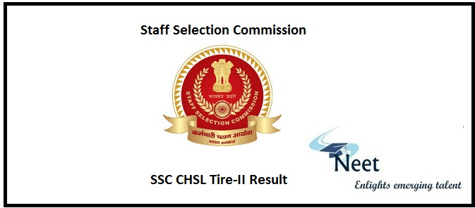SSC CHSL Tire-II Result 2020