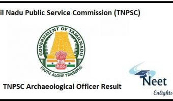 TNPSC Archaeological Officer Result 2020