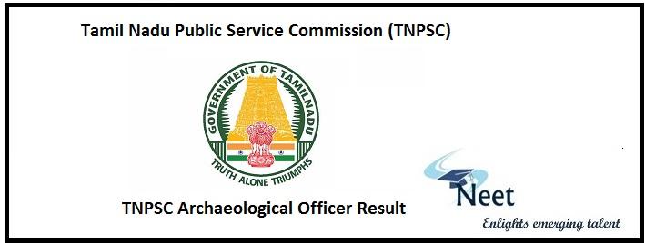 TNPSC Archaeological Officer Result 2020