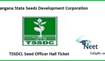 TSSDCL Seed Officer Hall Ticket