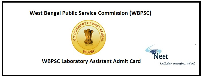 WBPSC Laboratory Assistant Admit Card