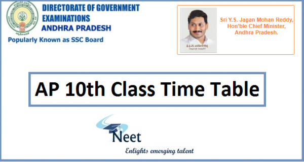 AP 10th Class exams Time table 2021