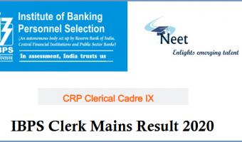 ibps-clerk-mains-result-2020