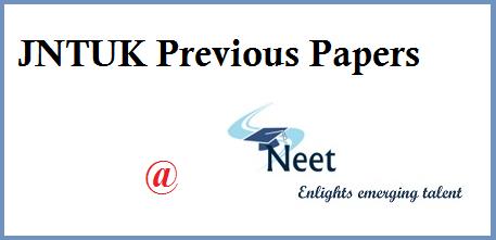 jntuk-previous-papers