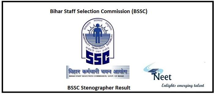 BSSC Stenographer Result