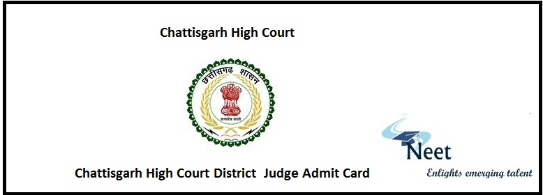 CGHC District Judge Admit Card