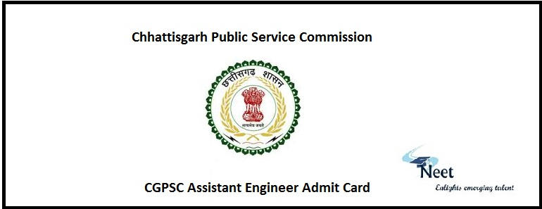 CGPSC AE Admit Card