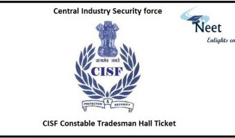 CISF Constable Tradesman Hall Ticket