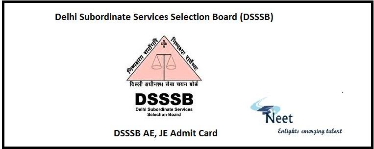 DSSSB JE Admit Card
