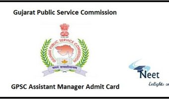 GPSC Assistant Manager Admit Card