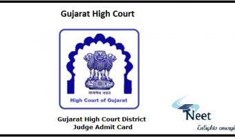 Gujarat High Court District Judge Prelims Admit Card