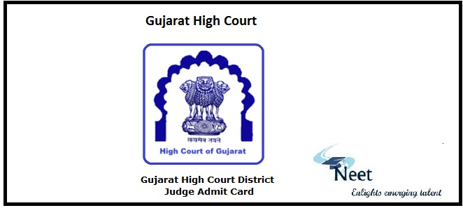 Gujarat High Court District Judge Prelims Admit Card