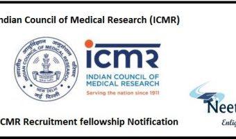 ICMR Recruitment Notification