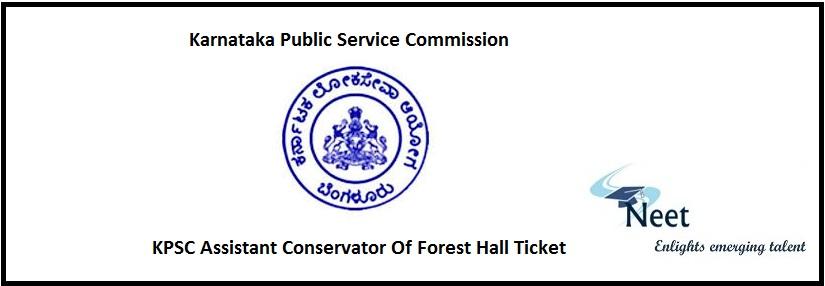 KPSC ACF Hall Ticket