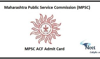 MPSC ACF Admit Card