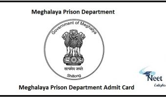 Meghalaya Prison Department Admit Card