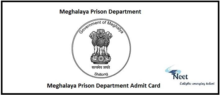 Meghalaya Prison Department Admit Card