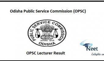 OPSC Lecturer Result 2020