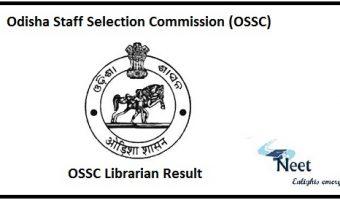 OSSC Librarian Result