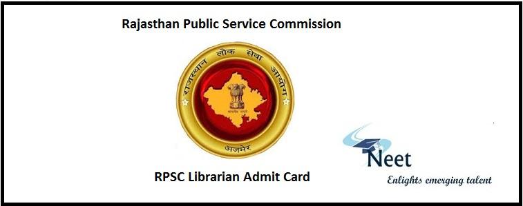 RPSC Librarian Admit Card