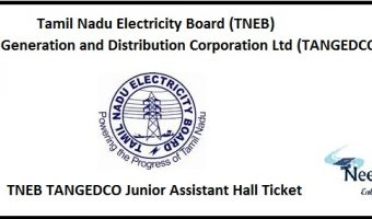 TNEB TANGEDCO Junior Assistant Hall Ticket