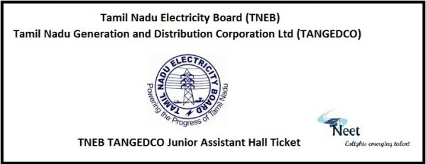 TNEB TANGEDCO Junior Assistant Hall Ticket 2021