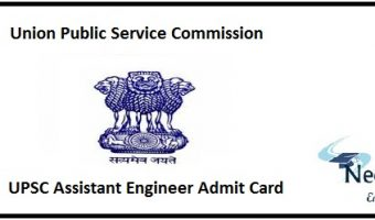 UPSC AE Admit Card 2020