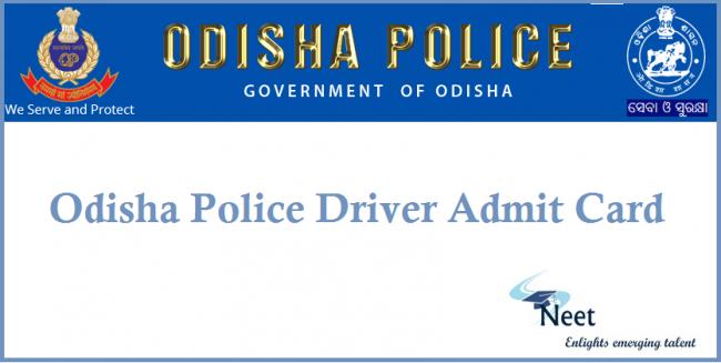 odisha-police-driver-admit-card-2020