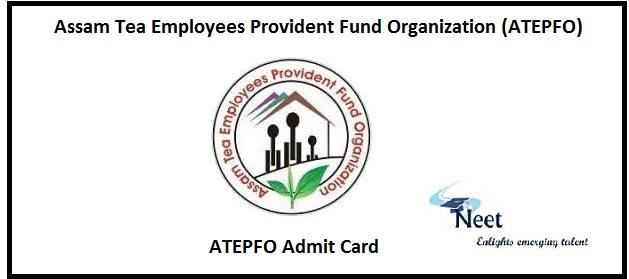 ATEPFO Admit Card