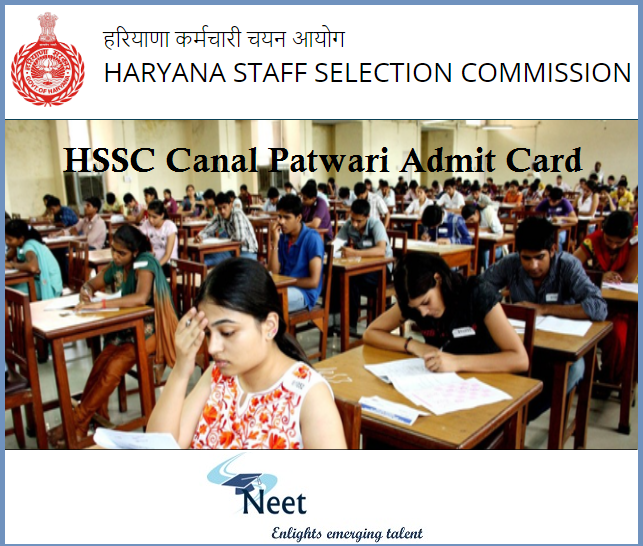 HSSC-Canal-Patwari-Admit-card-2020