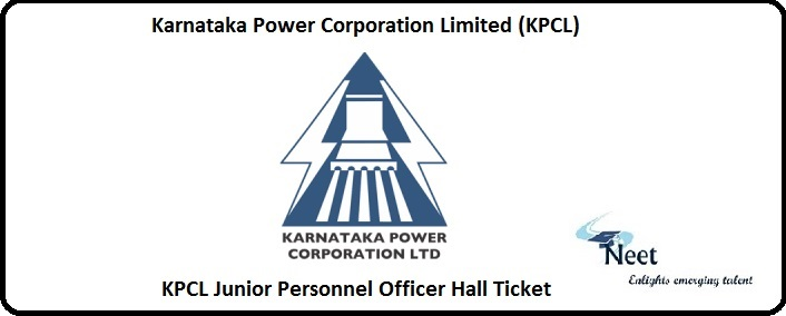 KPCL Junior Personnel Officer Hall Ticket